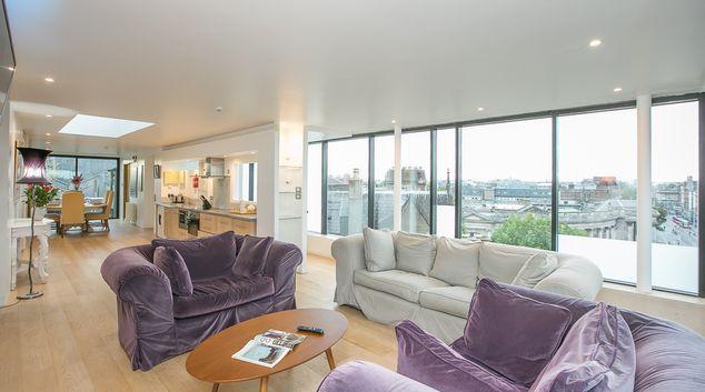 Living room at Trinity Gardens Apartment, Centre, Dublin
