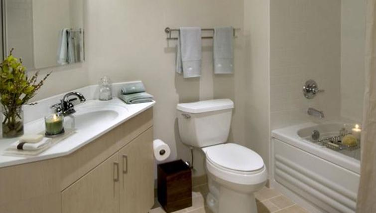 Simplistic bathroom in Archstone Boston Common Apartments