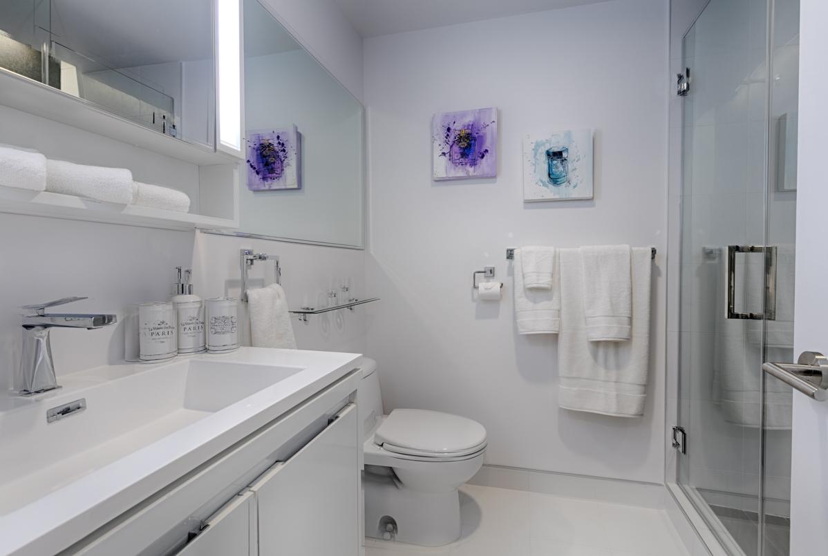 Toilet at Tour des Canadiens Apartments, Centre, Montreal