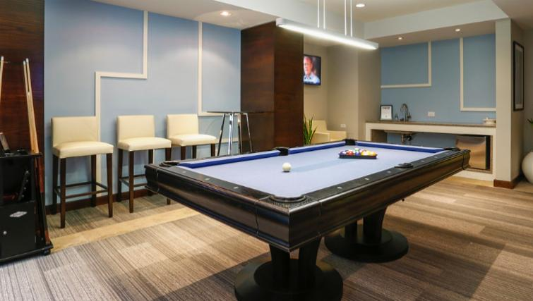 Pool table area at 1330 Boylston Apartments