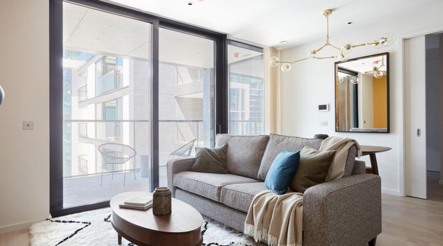 Lounge at Britain Quay Apartments, North Wall, Dublin