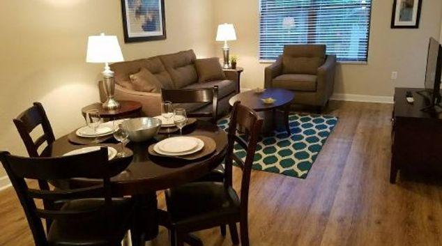 Living area at Cortland World Gateway, Lake Buena Vista, Orlando