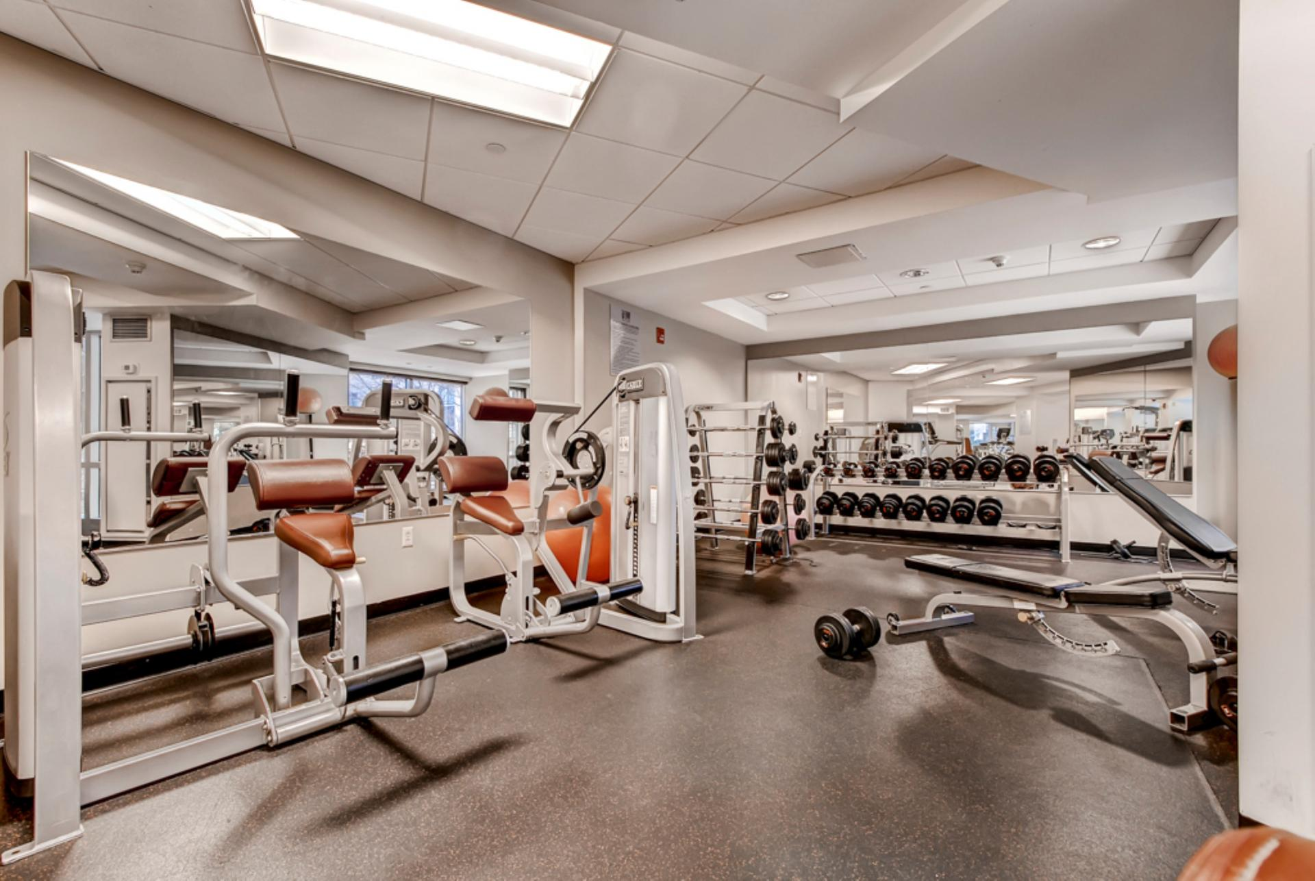 Gym at Fenway Triangle Trilogy Apartments, Brookline, Boston