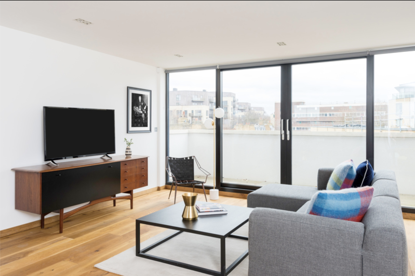 Lounge at Drum Court Apartments, Barnsbury, London