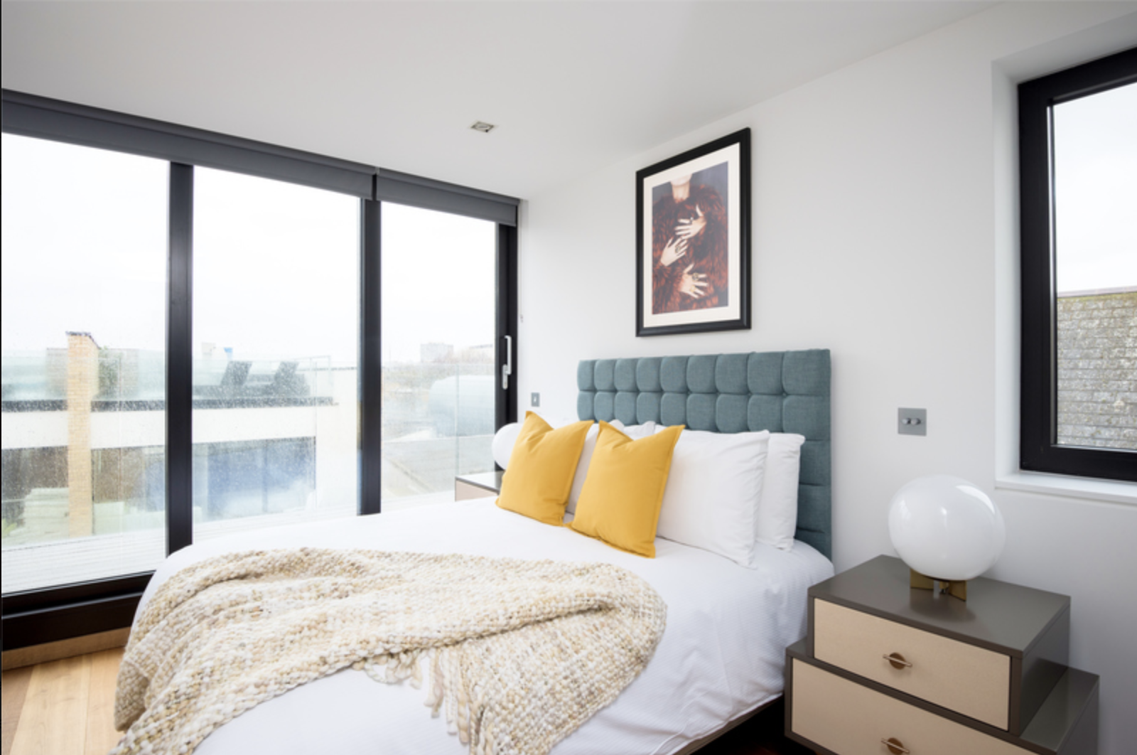 Bedroom at Drum Court Apartments, Barnsbury, London