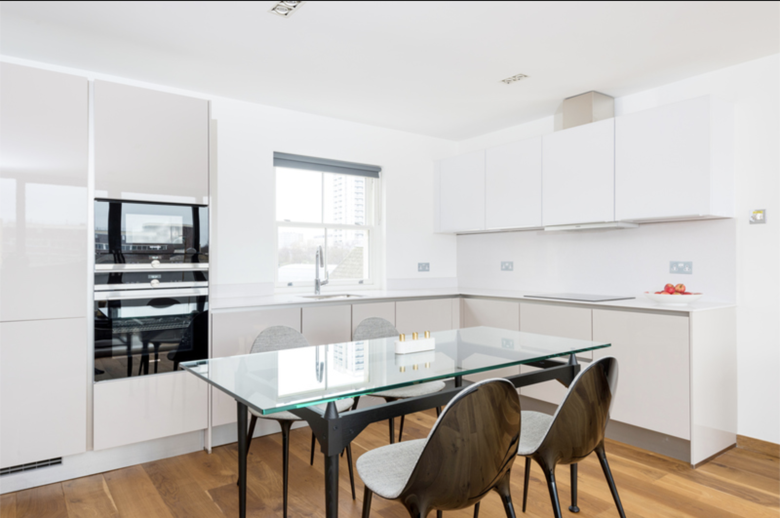 Dining area at Drum Court Apartments, Barnsbury, London