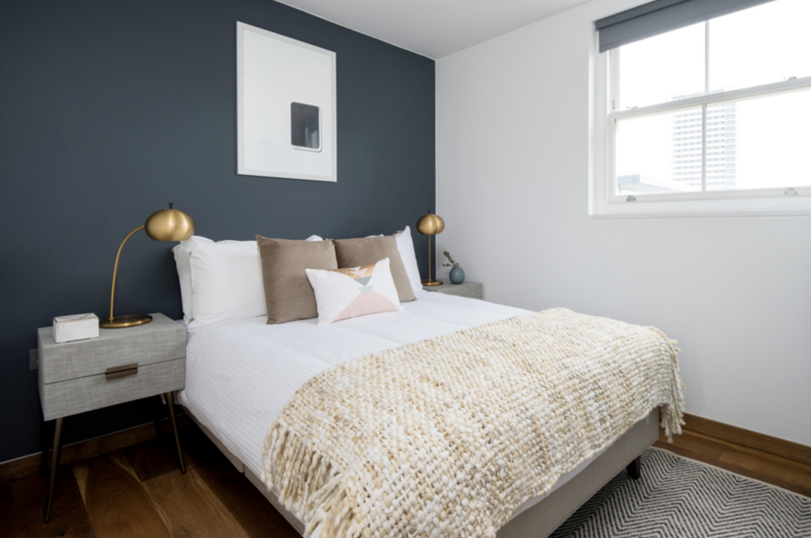 Bed at Drum Court Apartments, Barnsbury, London
