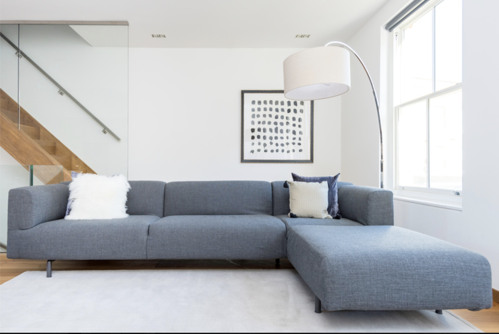 Sofa at Drum Court Apartments, Barnsbury, London