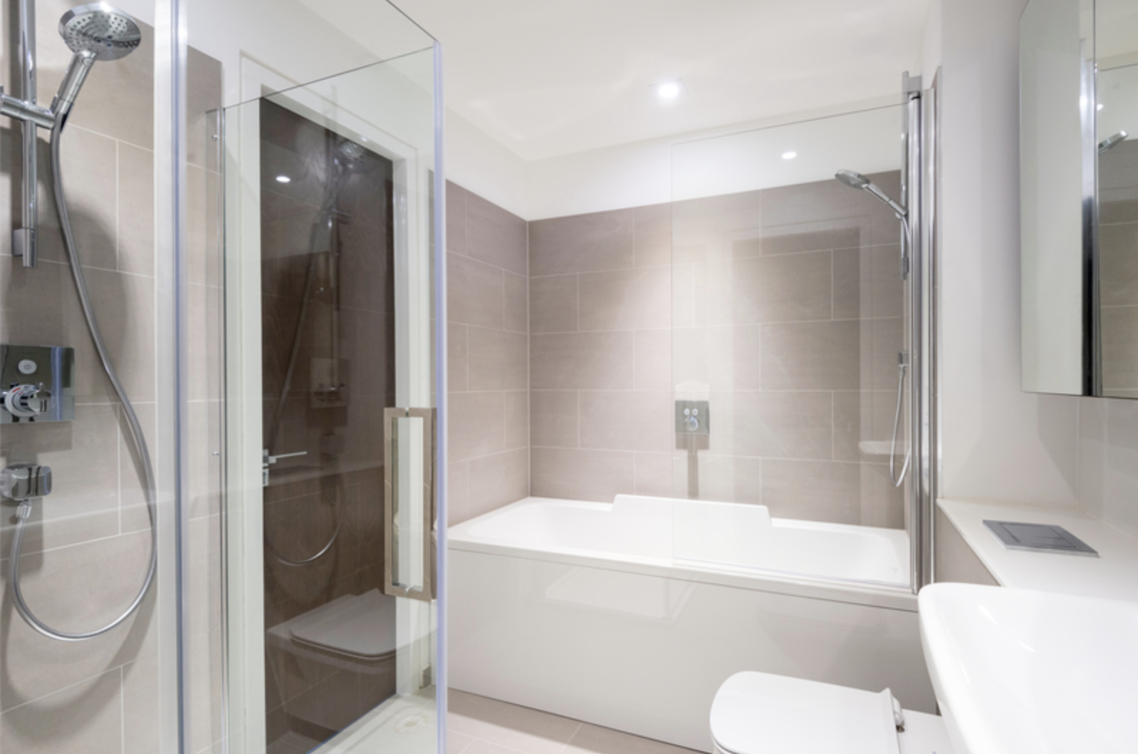 Bathroom at Drum Court Apartments, Barnsbury, London