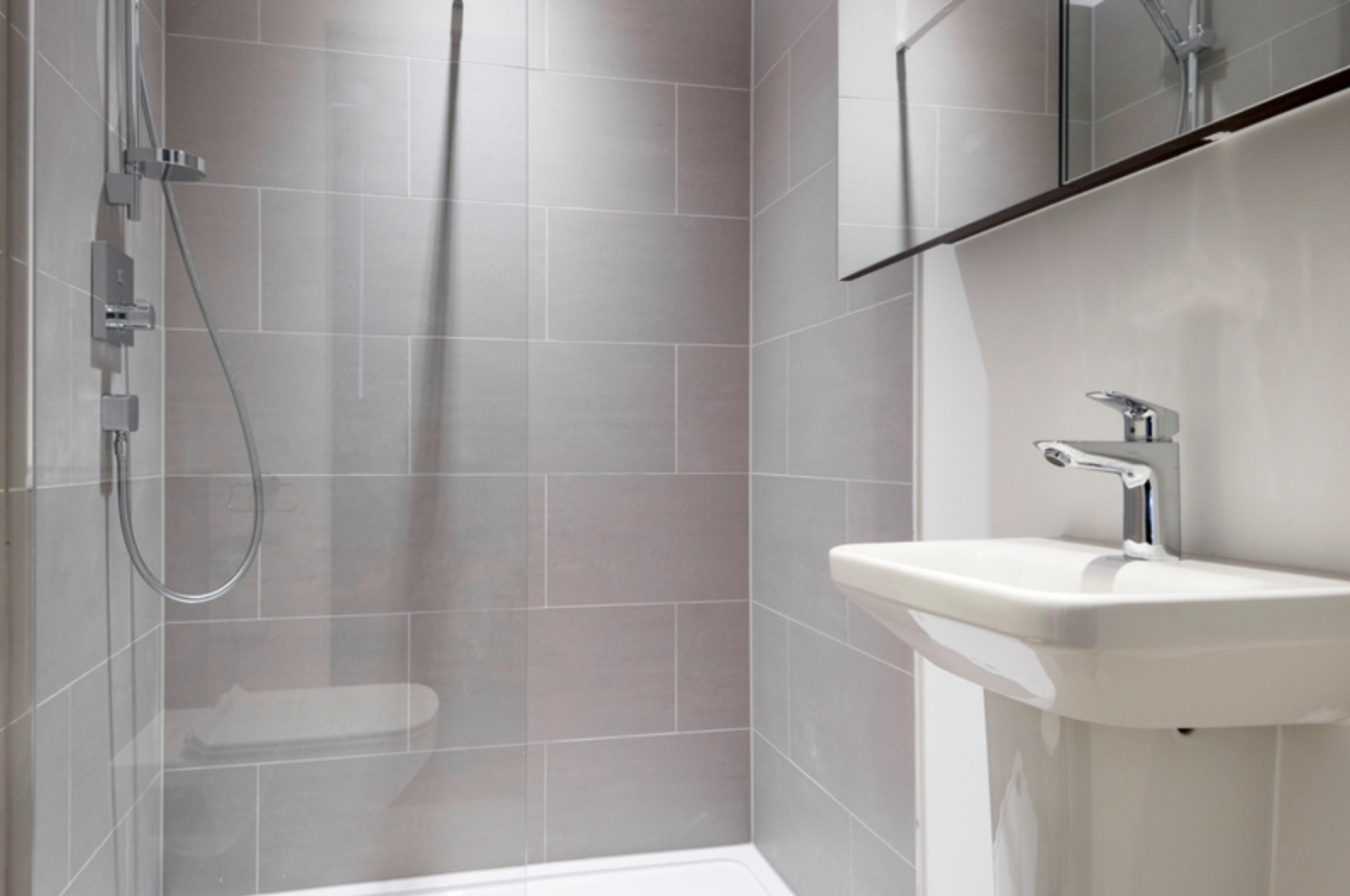 Shower at Drum Court Apartments, Barnsbury, London