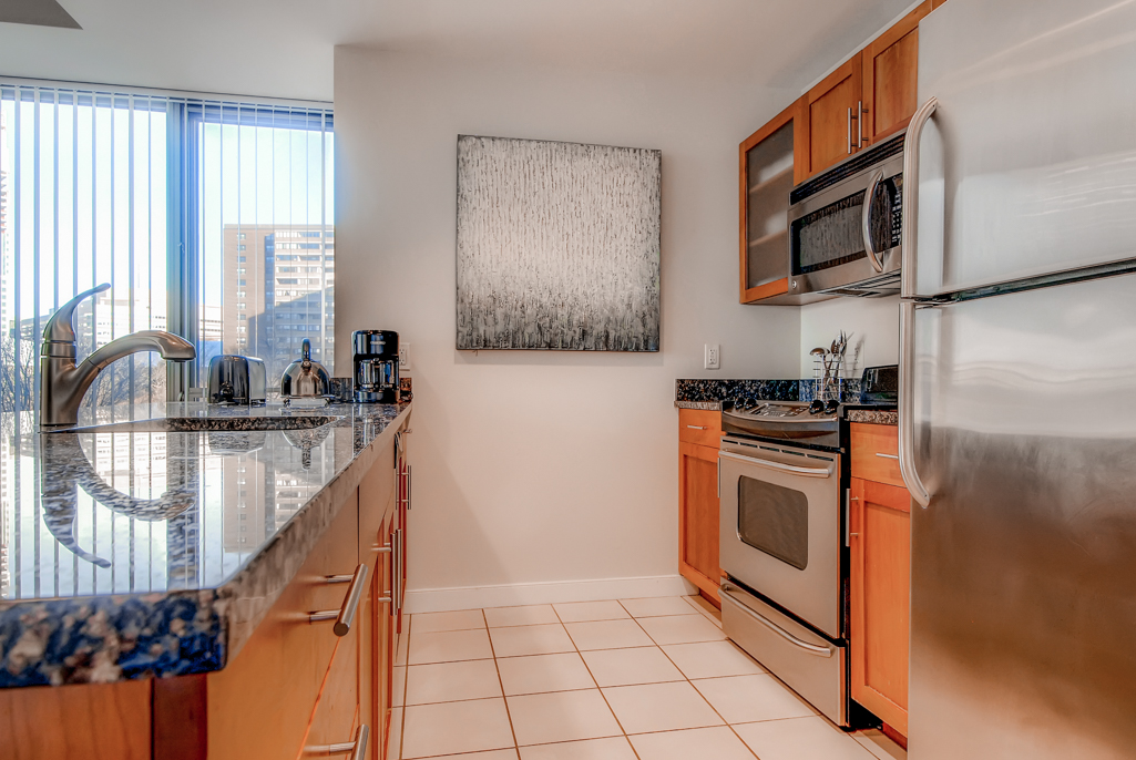 Kitchen at Asteria at West End Apartments, Centre, Boston
