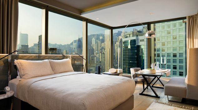 Deluxe studio at 99 Bonham Apartments, Sheung Wan, Hong Kong