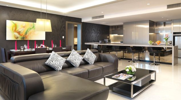 Living Hall at The Gardens Apartment, Brickfields, Kuala Lumpur