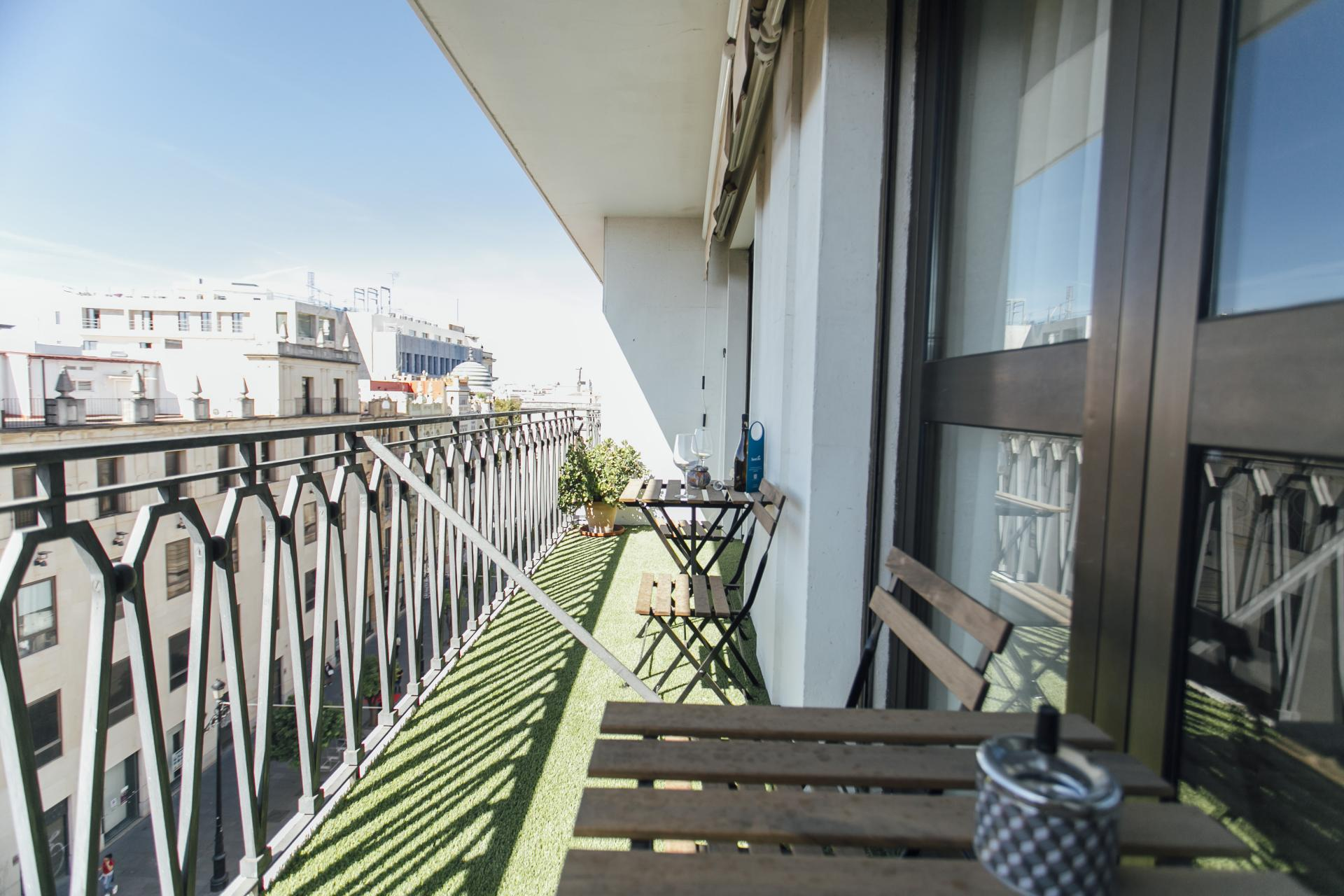 Balcony at Constitucion Apartment, Centre, Seville