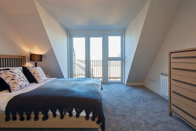 Bedroom at Brixham Court Apartments, Centre, Staines