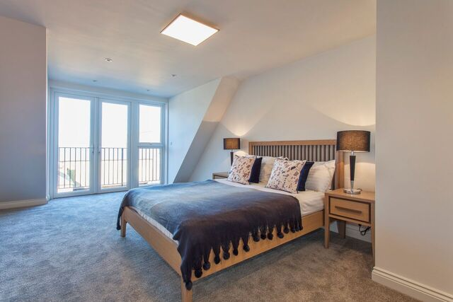 Bright bedroom at Brixham Court Apartments, Centre, Staines