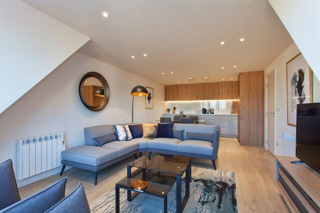 Living area at Brixham Court Apartments, Centre, Staines