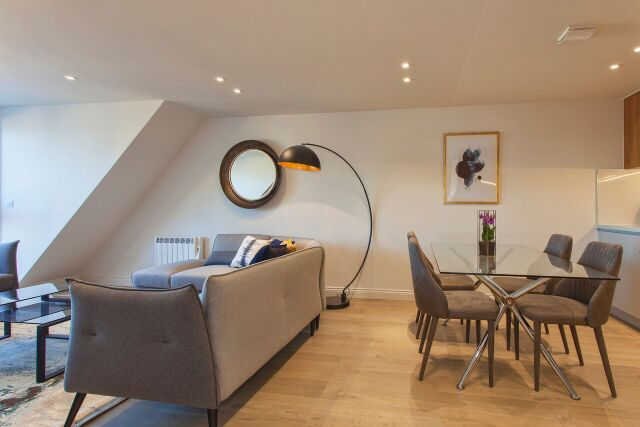 Living diner at Brixham Court Apartments, Centre, Staines