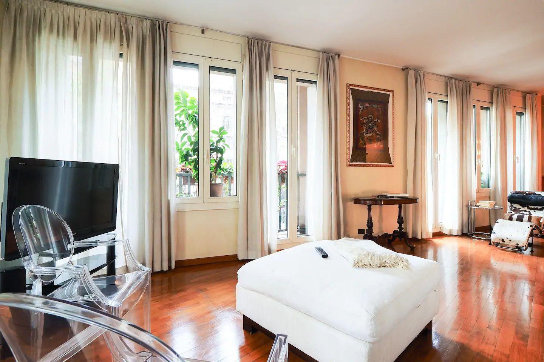 Bright living space at The Scholar Apartment, Porta Nuova, Milan