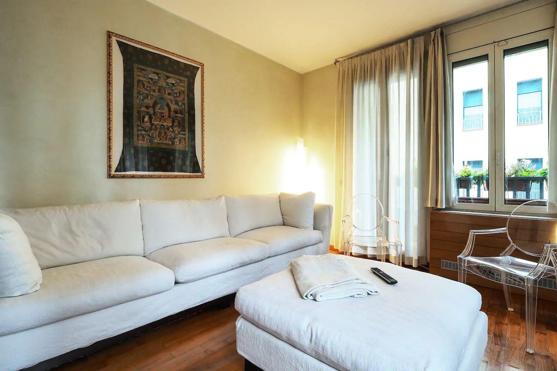 Sofa at The Scholar Apartment, Porta Nuova, Milan