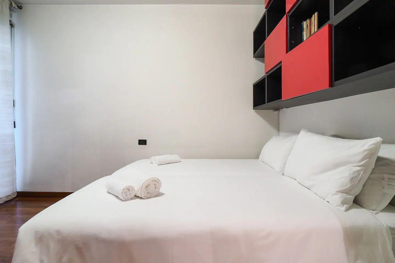 Comfy bed at The Scholar Apartment, Porta Nuova, Milan