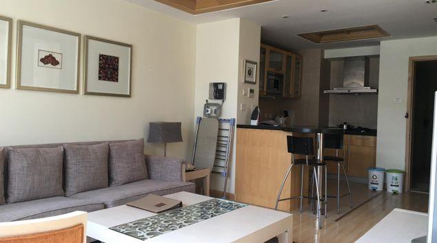 Living area at Huangshi International Apartments, Chaoyang District, Beijing