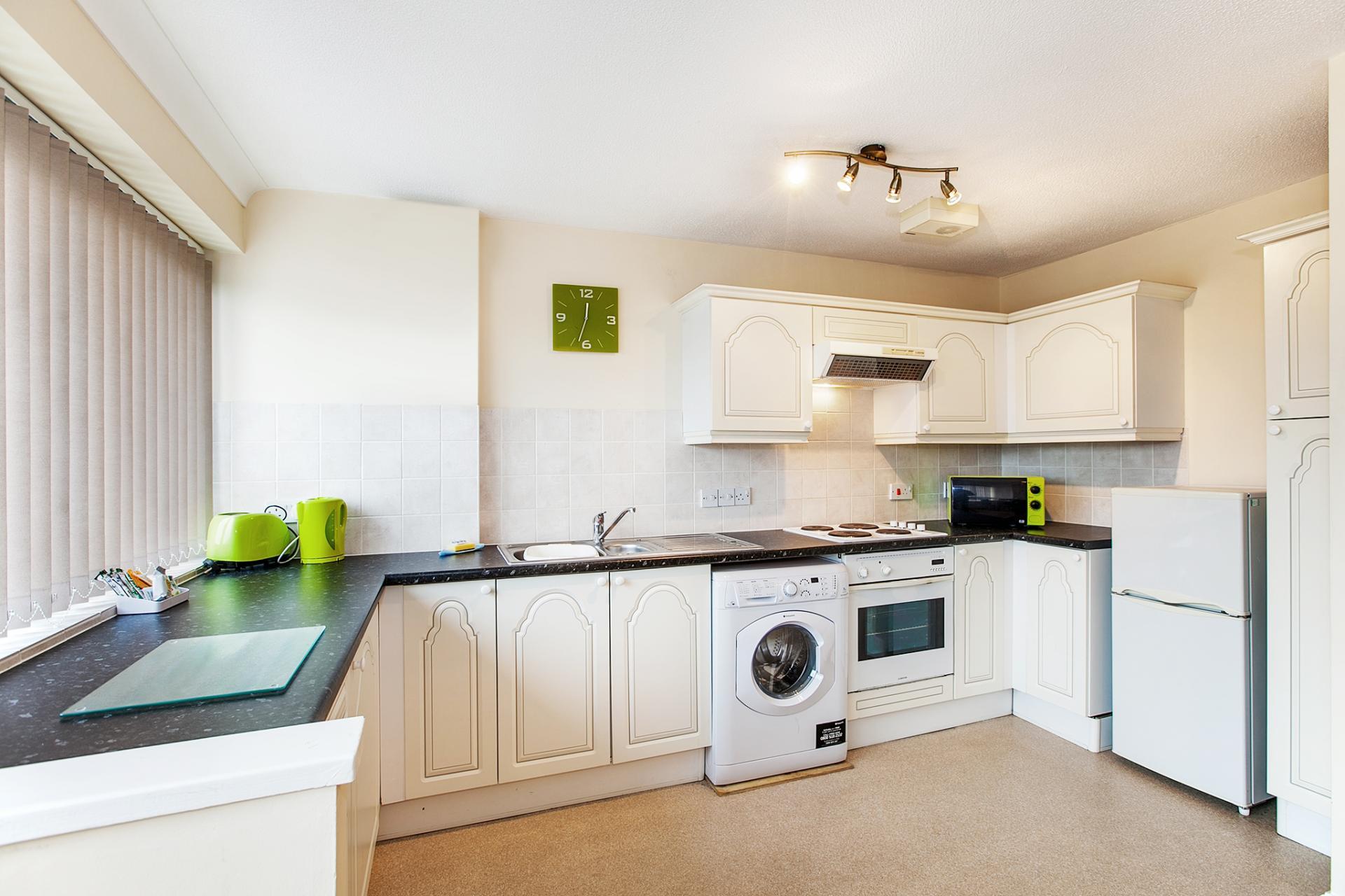 Kitchen at South Row Apartments