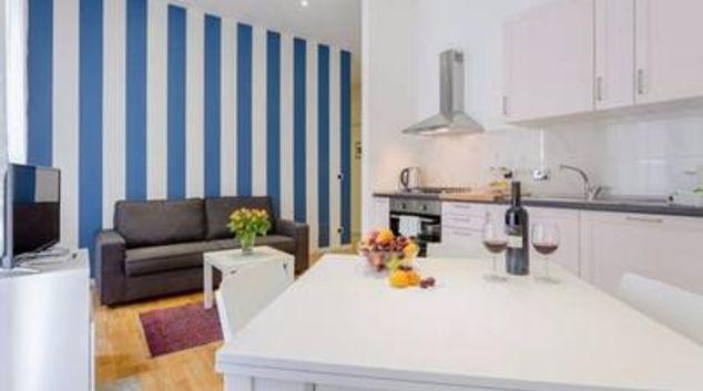 Living room at Angelico Bright Apartment, Della Vittoria, Rome
