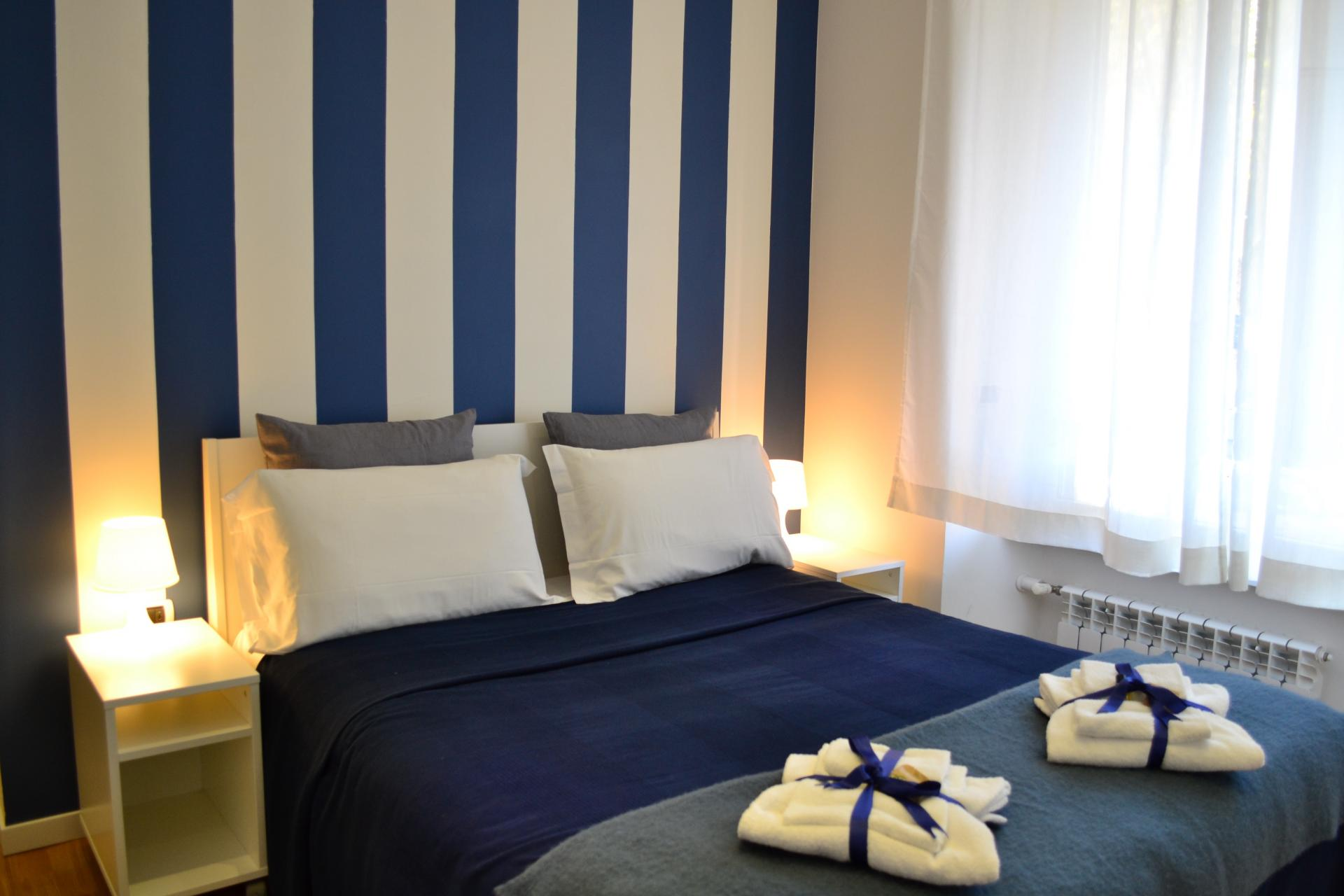Bed at Angelico Grand Apartment, Prati, Rome