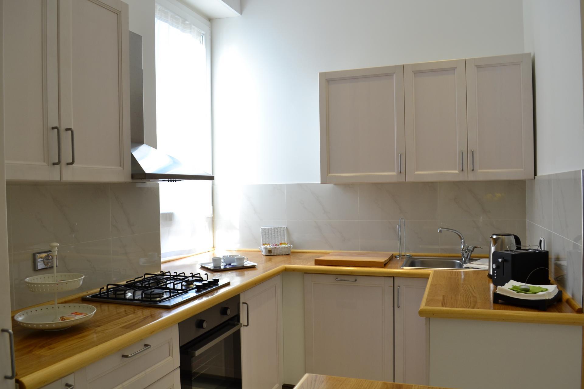 Kitchen at Angelico Grand Apartment, Prati, Rome