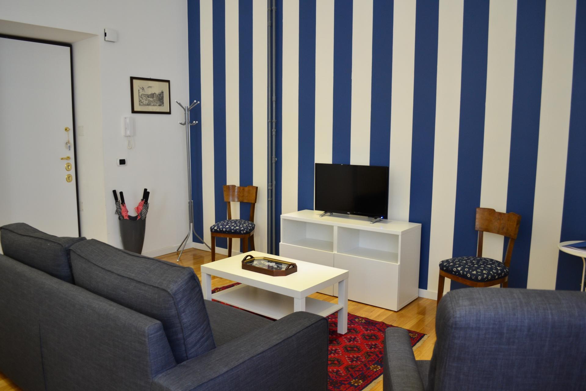 Living room at Angelico Grand Apartment, Prati, Rome
