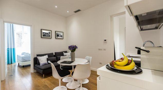 Living room at Corso Double Apartment, Municipio I, Rome