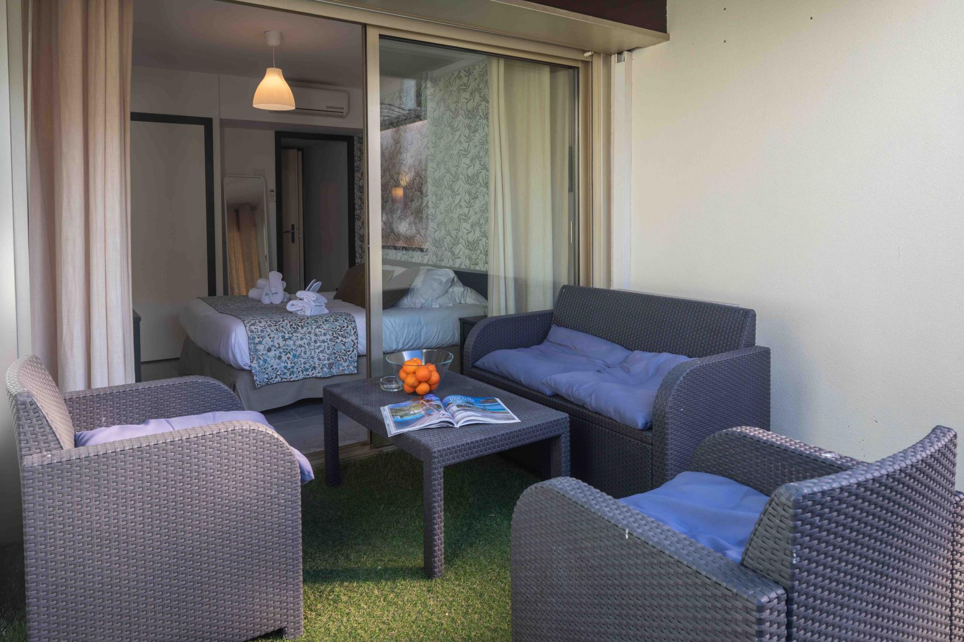 Private terrace at Deluxe Terrace Apartments, Juan-Les-Pins, Antibes