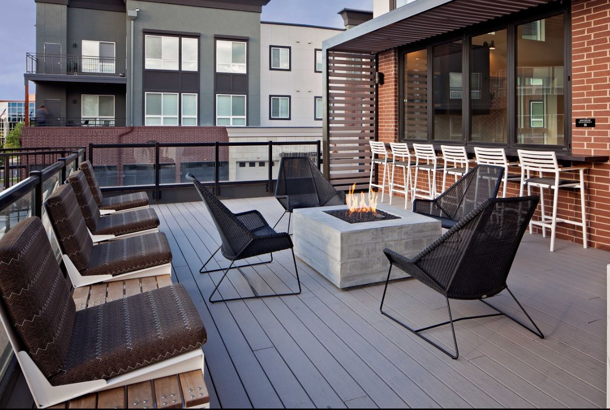 Terrace at The Palmer Apartment