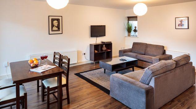 Living room at Grattan Street Apartments, Centre, Dublin