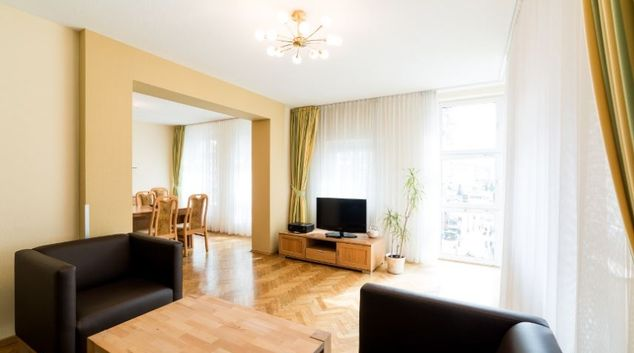 Living room at Munzgasse Apartment, Altstadt, Dresden