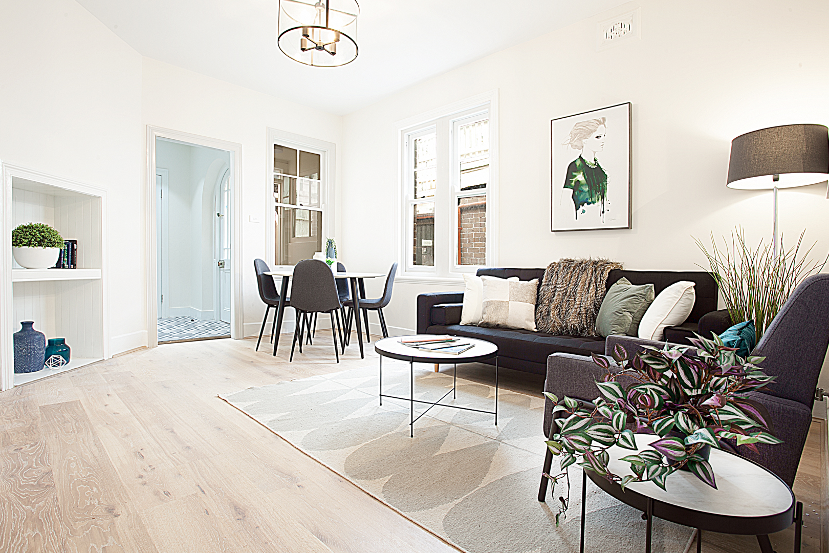Open-plan at The Miller Apartment, The Rocks, Sydney