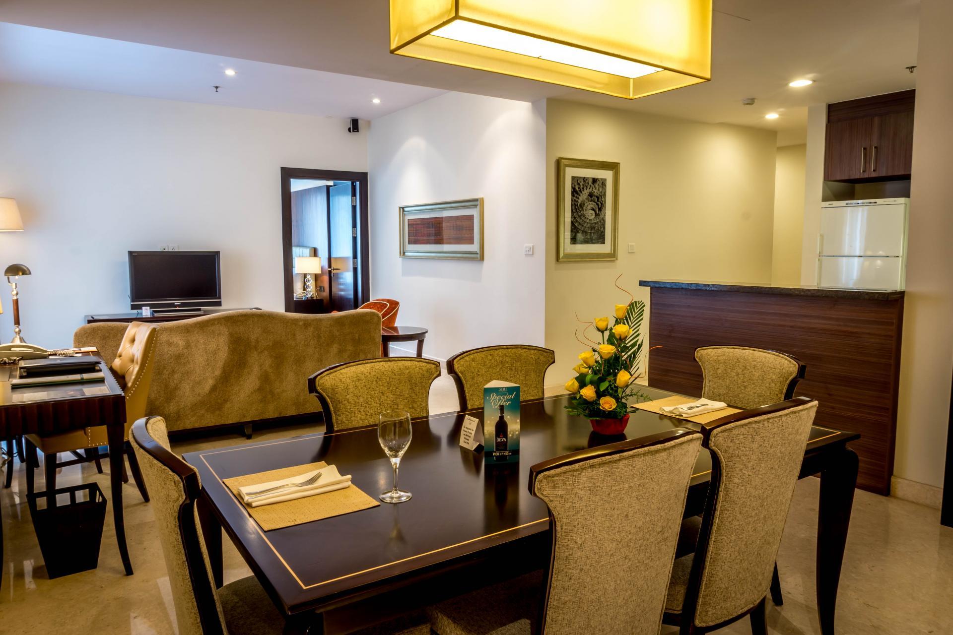 Dining area at Oakwood Premier Prestige Bangalore, Centre, Bangalore