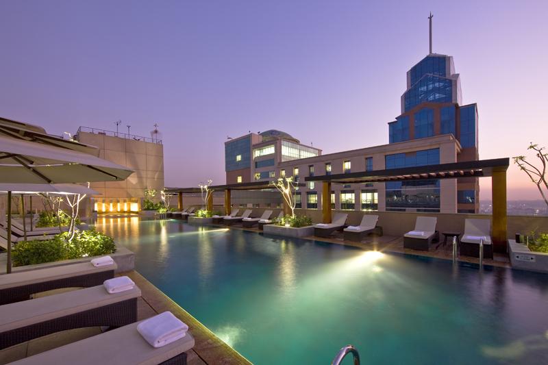 Pool side at Oakwood Premier Prestige Bangalore, Centre, Bangalore