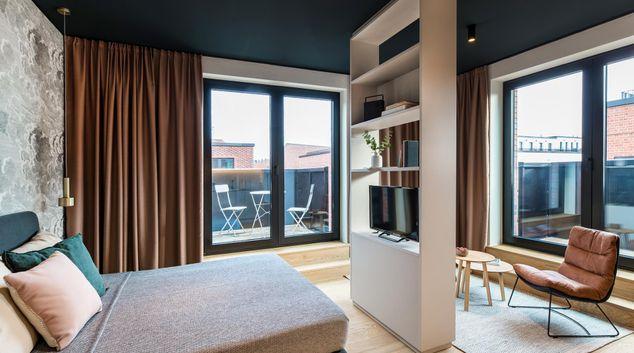 Seating area at Hamburg HafenCity Apartments, Hafencity, Hamburg