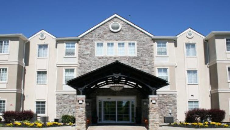 Stunning exterior ofStaybridge Suites Philadelphia Mt Laurel