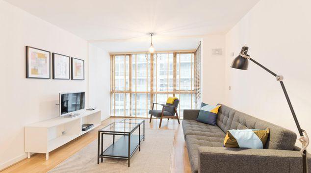 Living room at Gasworks Barrow Apartments, Stella Gardens, Dublin