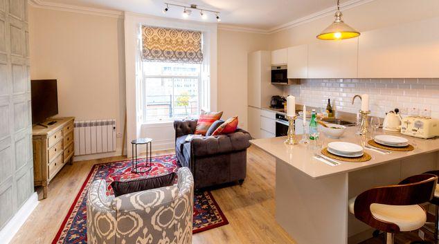 Living room at Adelaide Road, Portobello, Dublin