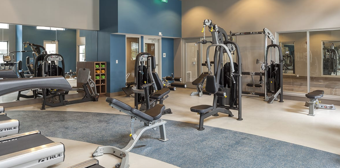 Gym at Radius at the Banks, Central Business District, Cincinnati