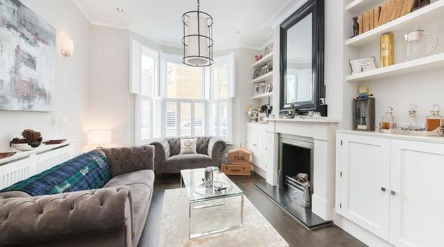 Living room at Dolby Road, Fulham, London