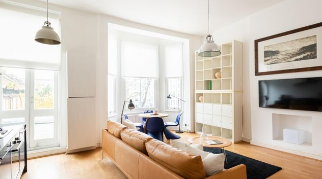 Living area at The Powis Square Escape, Westbourne Green, London