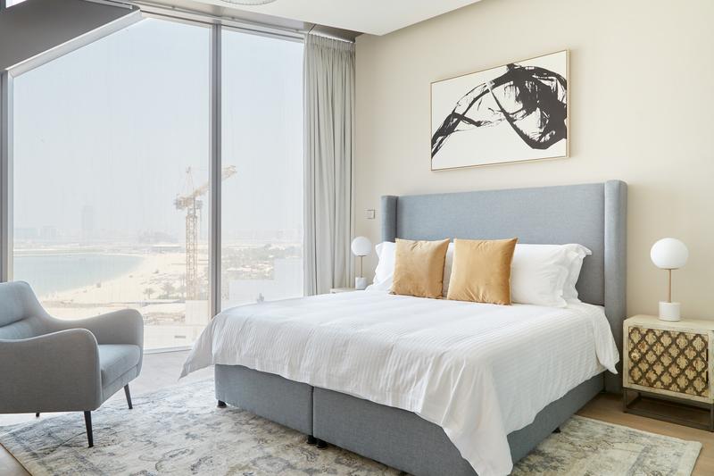 Bedroom view at JBR Suites, Dubai Marina, Dubai