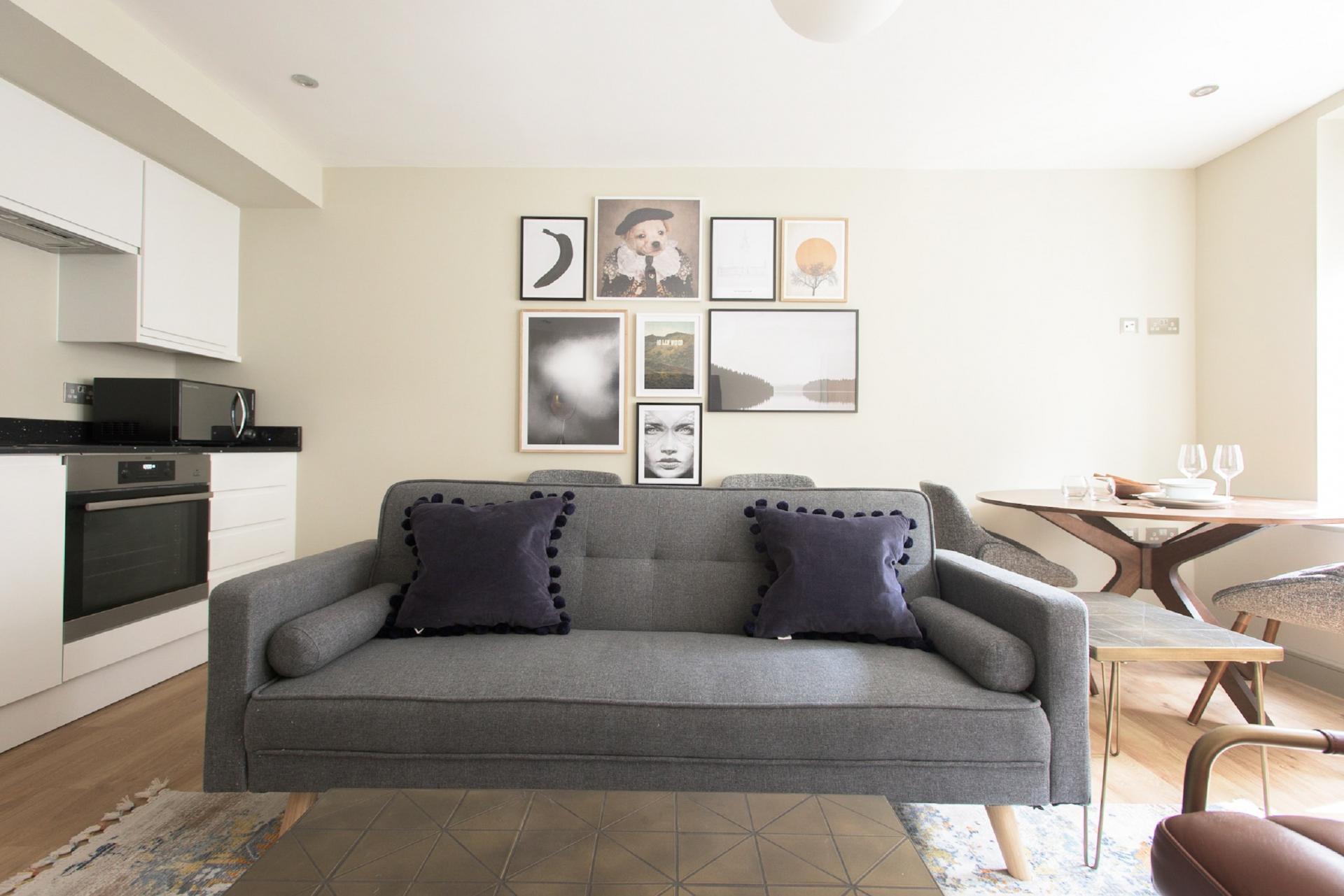 Living area at The New Bond Street Loft, Mayfair, London