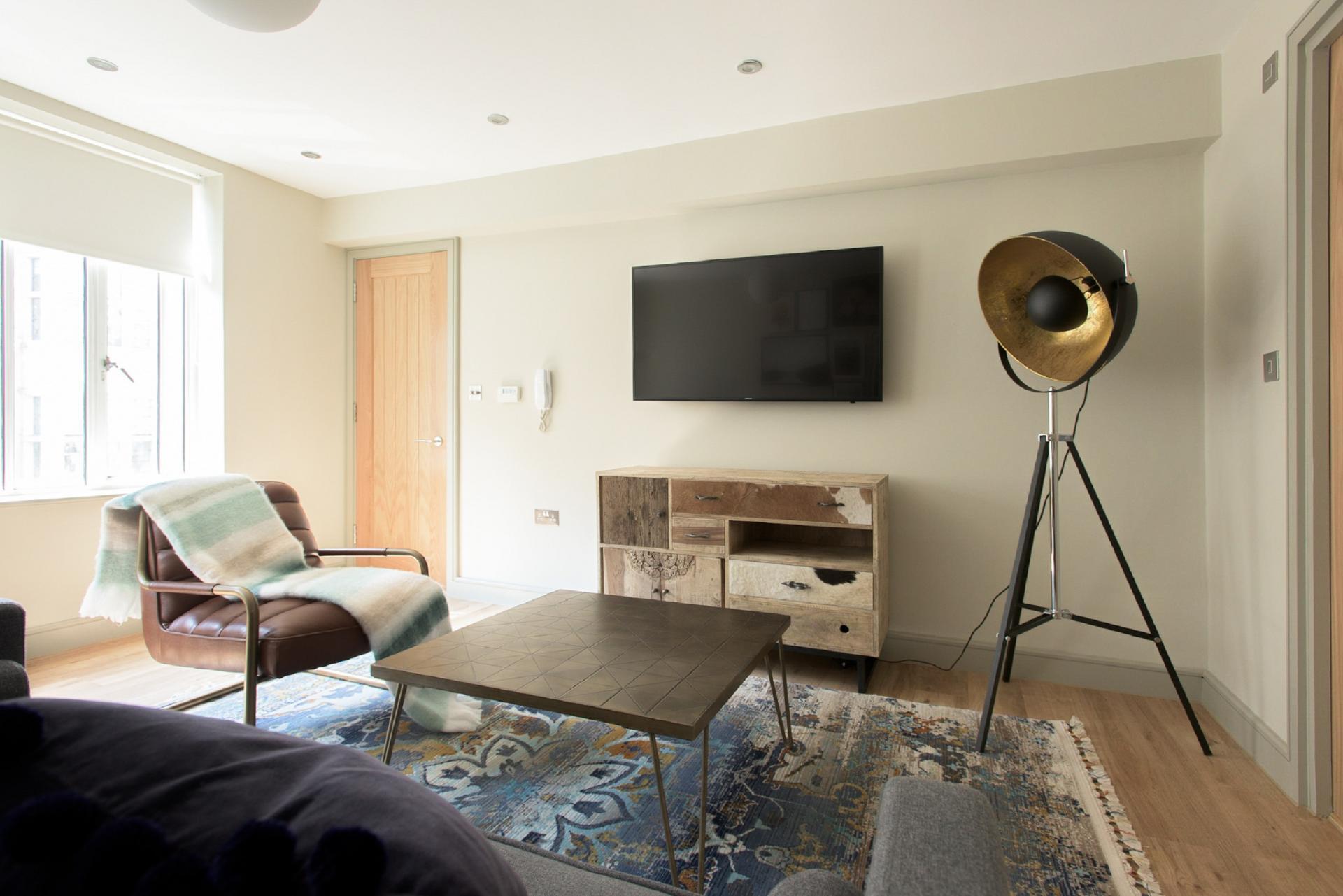 Living space at The New Bond Street Loft, Mayfair, London