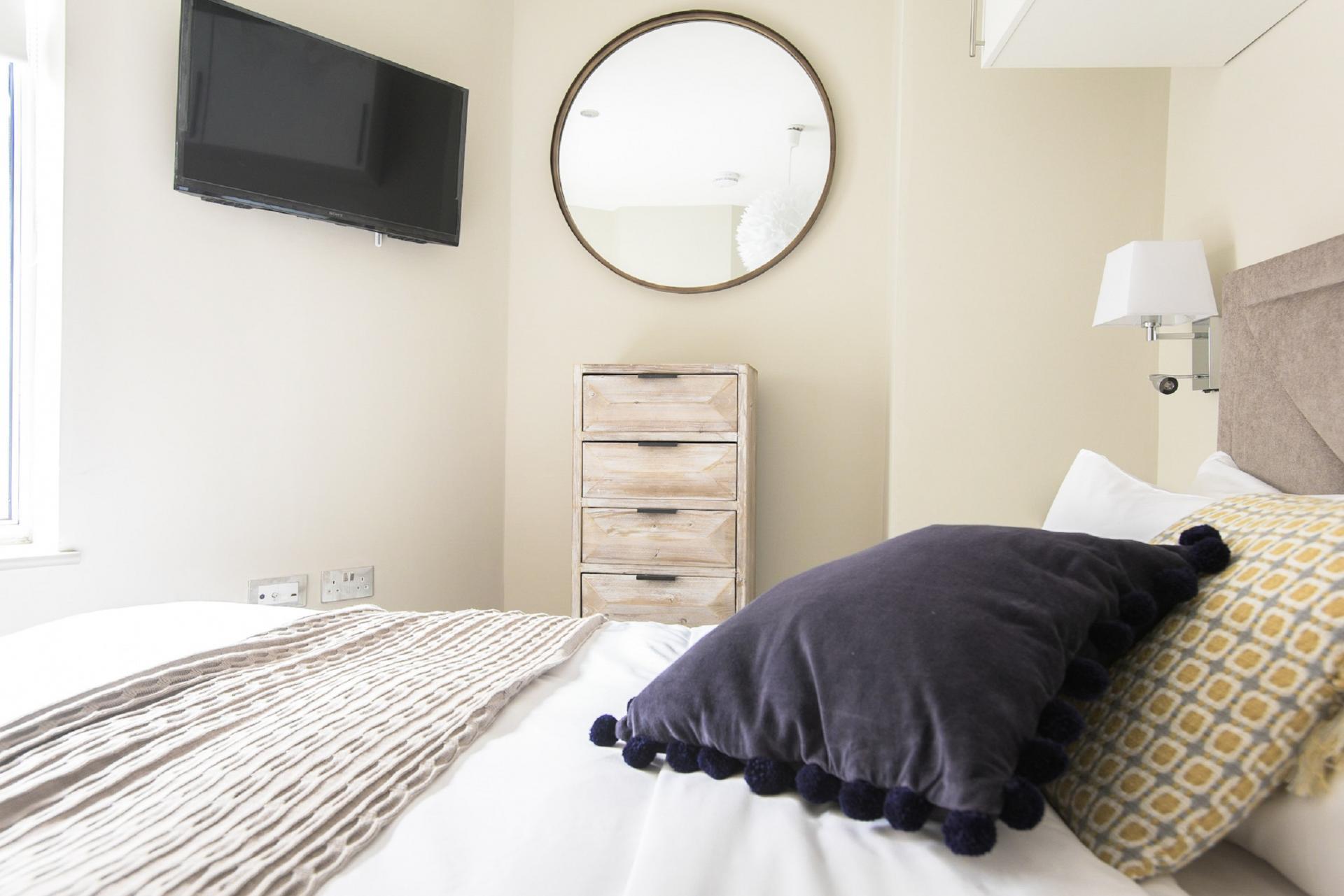 Bright bedroom at The New Bond Street Loft, Mayfair, London